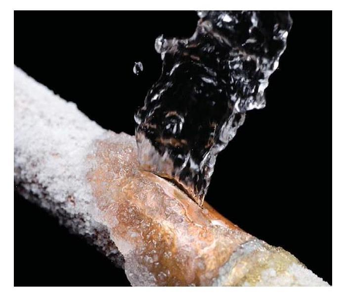 frozen pipe bursting